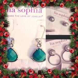(3) Lia Sophia Earring Holiday Bundle